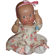 """Super Cute – 10"""" Composition Baby Doll w/Bent Knees and Side Glancing Eyes"""