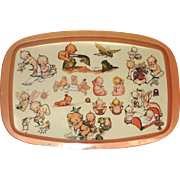 Vintage Rose O'Neil Serving Tray c1930 - 1940