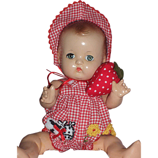 "1930-40s Effanbee Patsy 9"" Baby Doll in Newer Effanbee Costume"