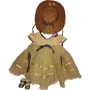 "1940's Arranbee Princess Elizabeth Complete Outfit for 15"" Composition Doll"
