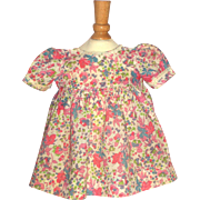 "Lovely Floral Print Dress for 19"" to 20"" Composition Doll"