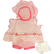 "Very Rare - 1920's - 1930's Complete Petit Sally Outfit for 11 to 12"" Composition Doll"