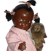 "1930's African American - 10""Composition Patsy Type Baby Doll"