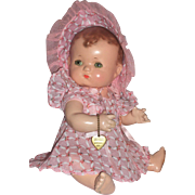 1930's Effanbee Patsykins 11'' Straight Leg Baby Doll w/Accessories