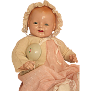 "Big 24"" Happy Baby Dimples Doll - c1928 Made by E.I Horsman"