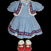 "16"" P-Toni Doll Dress, Bolero Jacket with Shoes and Socks"
