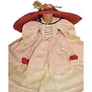 Madame Alexander Scarlett O'Hara 11' Composition Doll Original Dress & Hat
