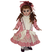 Vintage Factory Artist Made - EJ12 Depose - Tete Jumeau Doll in Factory Costume
