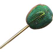 Antique Egyptian Revival Scarab Beetle Stickpin