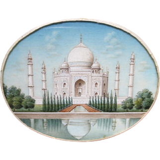 Fantastic Antique Taj Mahal Miniature Painting