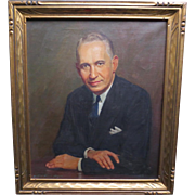 Portrait Oil Painting of Gentleman dated 1936 by Listed Artist Wilbur Fishe Noyes