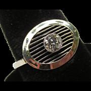 Vintage Art Deco 14k White Gold Diamond Ring