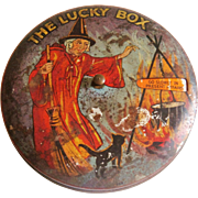 The Lucky Box game in a tin with witch