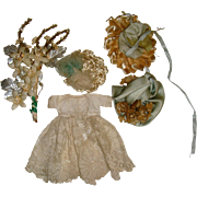 Small wedding hats,corsage and dress