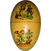 Set of 3 early wooden decorated eggs - Red Tag Sale Item