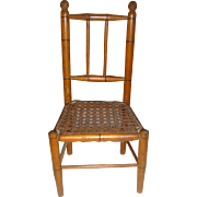 Antique bamboo and cane dolls chair