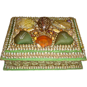 Victorian shell covered sewing box