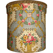 Beautiful fabric covered curved French box