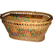 Beautiful hand painted basket for FF doll