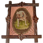 Needle point picture of old bull dog