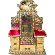 Victorian shell dressing table for FF doll