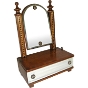 Miniature toilet mirror with drawer for FF doll