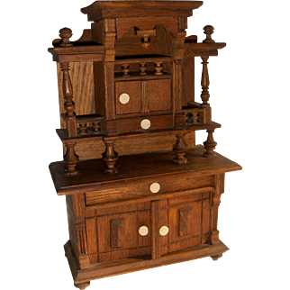 Large scale German dresser for dolls house or doll