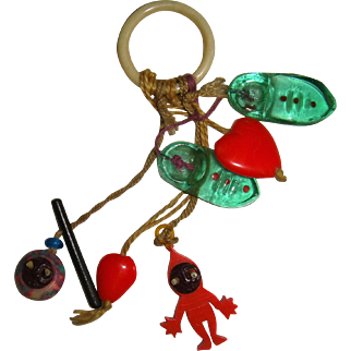 Collection of kobe and glass charms