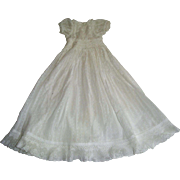 Pretty white lace trimmed dress with hand smocking