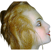 Beautiful French wax mannequin marked Mosca