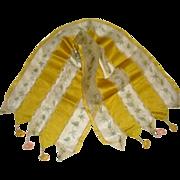 Silk fabric dolls house curtains