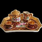 Pretty hand painted Limoge part tea set