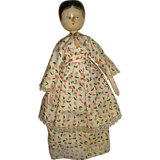 Old wooden peg doll