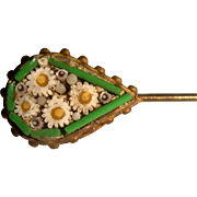 Miniature micro mosaic stick pin for doll