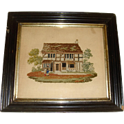 Embroidered paper picture of Shakespeare's House