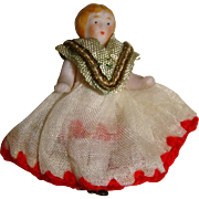 Tiniest ever all bisque doll nicely dressed