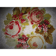 Antique bead work with roses