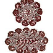 Pair of bead work rugs for dolls house