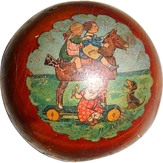Paper mache early child's ball