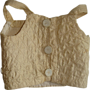 Hand stitched silk bodice for doll