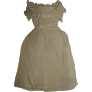 Muslin and lace  hand made dress for small early doll
