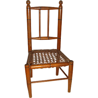 Doll chair caned seat