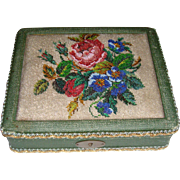 Pretty bead work 1920s covered box