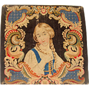 Early 19th century needle work of lady