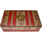 Beautiful fabric covered box c1920s