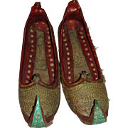 Interesting pair of old childs Eastern shoes