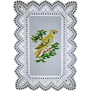 Miniature embroidered picture for dolls house