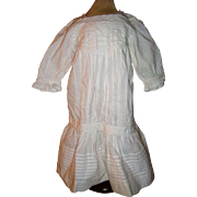 Hand stitched low waisted old dress for large doll