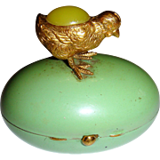 Enamel egg with ormolu chick