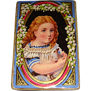 Decorative small box girl with bird